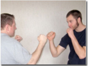jab punch ready position